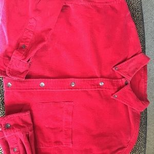 Great red men's corduroy shirt!